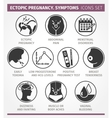 Ectopic Pregnancy Symptoms Icons Set vector image vector image