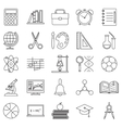 Education school icons set line art isolated vector image vector image