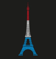 Eiffel tower line vector image vector image