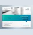elegant blue business brochure presentation vector image vector image