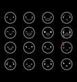 emoticons doodle round black 2 vector image