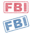 fbi textile stamps vector image