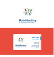 flat decoration lights logo and visiting card vector image vector image