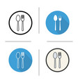 fork and spoon icon vector image vector image