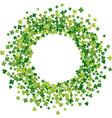 frame or border random scatter clover leaves vector image vector image