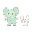 Funny cartoon elephant vector image vector image