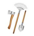 gardening hand tools vector image vector image