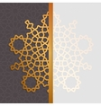 Geometric islamic pattern Muslim background in vector image