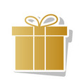 gift box sign golden gradient icon with vector image vector image