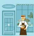 grandfathers flower shop vector image vector image