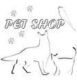 group pets for pet shop logo vector image vector image