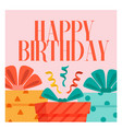 happy birthday gift box background image vector image