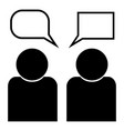 human sociability two man avatar with comment vector image vector image