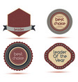 icon best badge leader award winner design shield vector image vector image