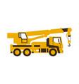icon truck crane construction machinery vector image vector image