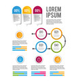 infographic business data sucess progress vector image vector image