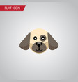 isolated dog flat icon puppy element can vector image vector image