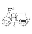 Isolated motorcycle design vector image