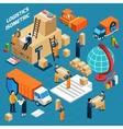 Isometric Warehouse Logistics Concept vector image vector image