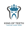 king tooth logo vector image vector image