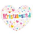 kristianstad city in sweden vector image vector image