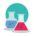 laboratory equipment set chemistry flasks vector image