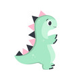 little dino on white vector image