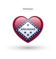 Love Arkansas state symbol Heart flag icon