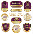 luxury retro badge and labels collection 5 vector image vector image