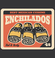 mexican enchilada sandwiches fast food vector image vector image
