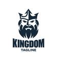 modern king and kingdom logo design vector image vector image
