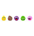 monster faces emoticons cartoon funny vector image