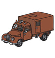Old fire truck vector image