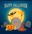 old grave and witch symbols vector image vector image