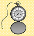 pocket watches pop art design clock vector image