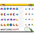 preschool pattern task for kids vector image vector image