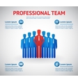 professional team vector image vector image