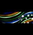 rainbow color fluid wave lines flow poster wave vector image vector image