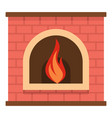 retro fireplace icon cartoon style vector image vector image