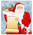 Santa Claus with Santas list vector image vector image