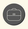 school bag round icon with the of vector image vector image