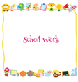 School work template vector image vector image