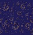 seamless halloween background vector image vector image