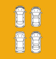 set of cars parking vector image