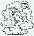 Sky with cloud closeup vector image vector image
