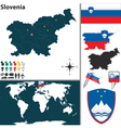 Slovenia map world vector image vector image
