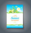 summer bright motif vector image vector image
