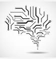 technological brain circuit board vector image vector image
