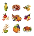 Thanksgiving Elements Set vector image vector image