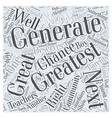 The Greatest Generation Word Cloud Concept vector image vector image